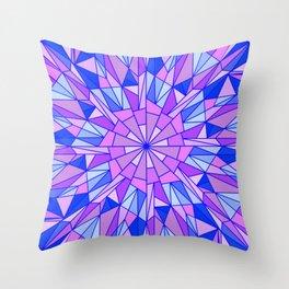 Ice Burst Throw Pillow