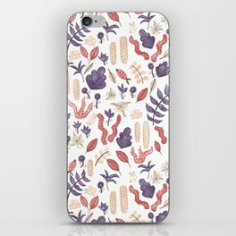 watercolor botanical garden iPhone Skin
