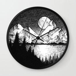 Moonlit Alaska Wall Clock