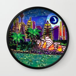 Moonlit Opera Wall Clock