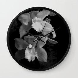 Midnight Gold - BW Wall Clock