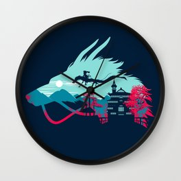 Traveling in Dragon Wall Clock