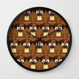 Super cute animals - Cute Brown Puppy Dog Wall Clock