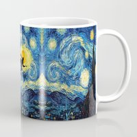 quidditch Mugs featuring Young wizzard abstract art painting iPhone 4 4s 5 5c, ipod, ipad, pillow case, tshirt and mugs by Three Second