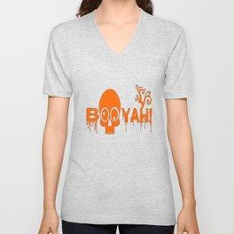 BOOYAH Funny Halloween Pumpkin Ghost Skull Tshirt Unisex V-Neck