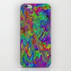 Atomic rainbow splash iPhone & iPod Skin