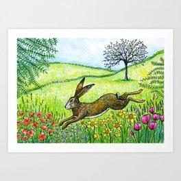 Leap into Spring Art Print