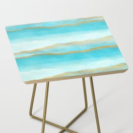 Gold and blue sea Side Table