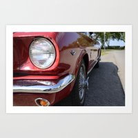 mustang Art Prints featuring Mustang by Inphocus Photography