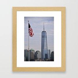 Freedom Symbol/Freedom Tower Framed Art Print