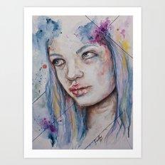Blue Mermaid  Art Print