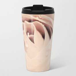 Drops on Rose Travel Mug