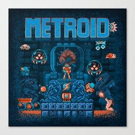 Metroids Canvas Print