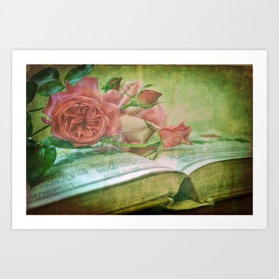 The Gardening Diary Art Print