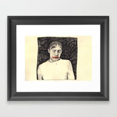 a drawing Framed Art Print