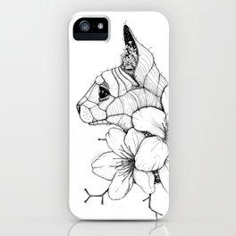 Sphynx cat & Sakura Blossoms iPhone Case