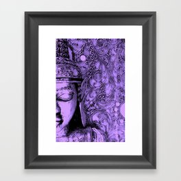 Purple Buddha Framed Art Print