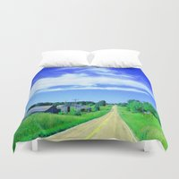 country Duvet Covers featuring Country Road by J&C Creations