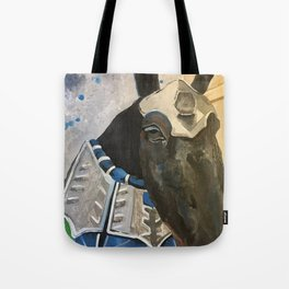 Abe; The Jousting Horse Tote Bag