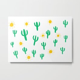 Suns and Cacti Metal Print