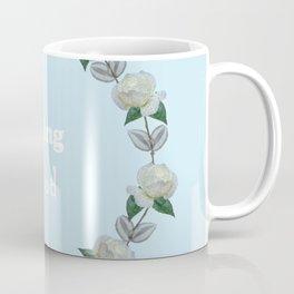 Roses bouquet, Blue, floral, flowers, leaves, botanical, pattern, decor, art, society6 Coffee Mug