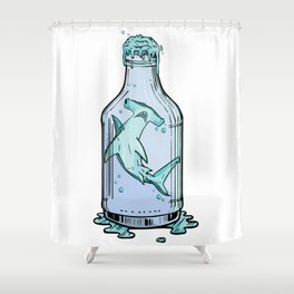 Hammered Sea Foam Vodka Shower Curtain