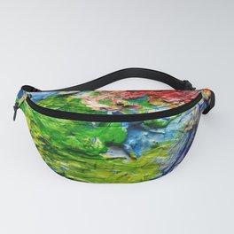 Artist palette with colorful paint spots Fanny Pack