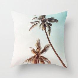 Palms Beach Summer Throw Pillow