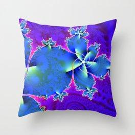 Festive Swirls Throw Pillow