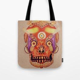 Holy Lumen Skull Tote Bag