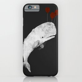 Whale with Balloons iPhone Case