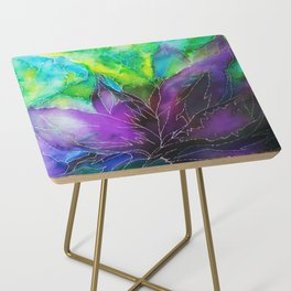 Purple Leaf Side Table
