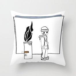 The Bum Throw Pillow