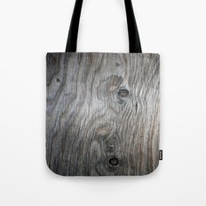 Real Aged Silver Wood Tote Bag