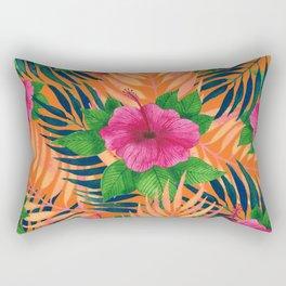 Hibiscus Tropical pattern Rectangular Pillow