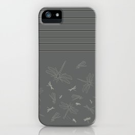 Dragonfly Pattern on Warm Grey iPhone Case
