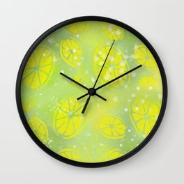 Lemon Summer Wall Clock