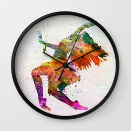 dancing to the night Wall Clock