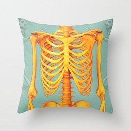 Skeleton II Throw Pillow