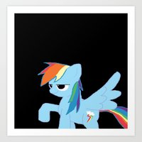 pony Art Prints featuring pony by Dore