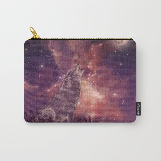 wolf and sky Carry-All Pouch