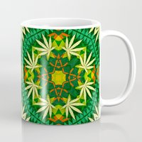 cannabis Mugs featuring Tribal Cannabis by GypsYonic