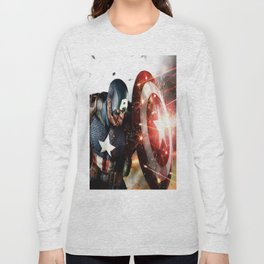 Man Of Captain In America Long Sleeve T-shirt