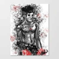 boxing Canvas Prints featuring Boxing by justsomestuff