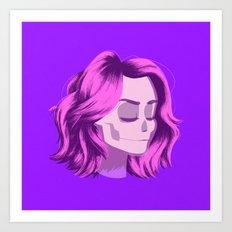 see through girl 4 Art Print