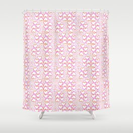 Little Pink Hearts Shower Curtain