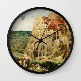 The Tower of Babel 1563 Wall Clock