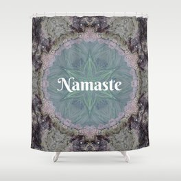 Ocean Nature Art Namaste photograph coastal decor, yoga studio art yogi Shower Curtain