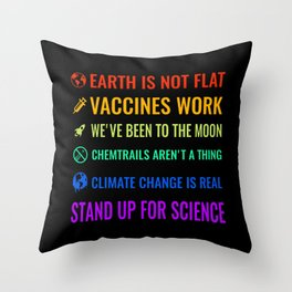 Stand up for science Throw Pillow