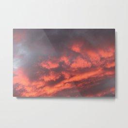 Beautiful Red Sky Metal Print
